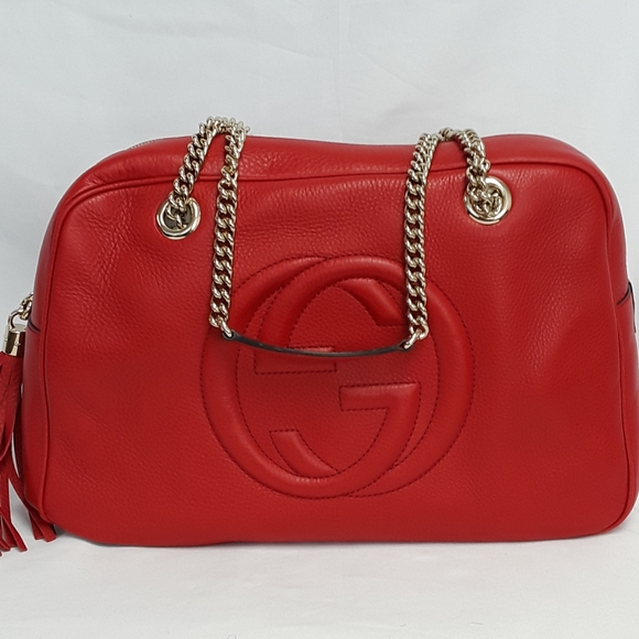 Gucci Handbags - New Gucci 353126 Soho Leather Chain Shoulder Bag